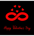 Limitless red sign with heart symbol Infinity icon vector image vector image