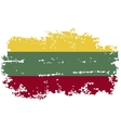 Lithuanian grunge flag vector image vector image