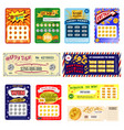lottery ticket lucky bingo card win chance vector image