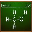 Methanol formula vector image vector image