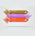 modern infographics options template with brown vector image