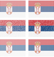 Mosaic Serbia flag set vector image vector image