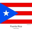 National flag of Puerto Rico with correct vector image vector image