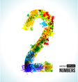 Number 2 Gradient Number vector image vector image