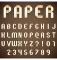 Old Paper Folded Font vector image vector image