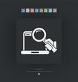 pc search icon vector image