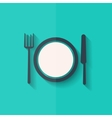 Plate web icon Flat design vector image