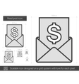 Read post line icon vector image vector image