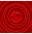 Red flat minimal tech background vector image vector image