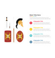rome spartha culture infographic template with 4 vector image
