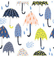 seamless childish pattern with colorful umbrellas vector image
