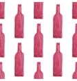 Seamless watercolor pattern with wine bottles vector image