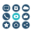 Social network icon set Flat design collection vector image vector image