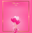 soft pink invitation card with gold border vector image vector image