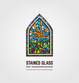 stained glass line vector image