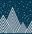 stars and mountains seamless pattern vector image vector image