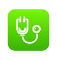 stethoscope icon green vector image