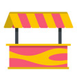 street stall with striped awning icon isolated vector image vector image