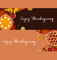 thanksgiving dinner banner templates vector image vector image