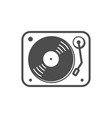 turntable simple icon white design vector image