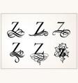 vintage set capital letter z for monograms vector image vector image