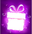 Violet holiday design with white place for your vector image vector image