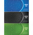 water drops on different color background vector image vector image