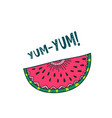 watermelon yum yum card design vector image