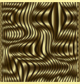 waves gold 3d trendy seamless pattern modern vector image