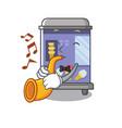 with trumpet ice cream vending machine mascot vector image vector image