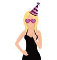 woman with party sticks vector image