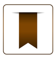 Brown bookmark symbol vector image