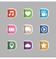 Collection of social media pictograms vector image