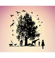 Fantastic picture with animals vector image