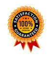 100 percent satisfaction guaranteed badge with vector image