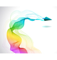 Abstract color background with paper air plane vector image vector image