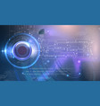 abstract cyber eye futuristic background vector image vector image