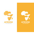 africa and hands logo combination safari vector image vector image