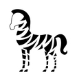 African zebra isolated icon