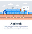 agriculture technology agritech concept vector image