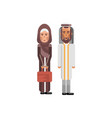 arabic couple in national clothes vector image vector image