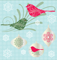 birds and ornaments vector image vector image