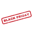 Black Friday Text Rubber Stamp vector image vector image