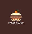 cake shop logo with mustache design concept vector image