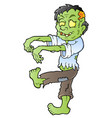 cartoon zombie theme image 1 vector image