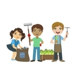 Children Gardening Together vector image vector image