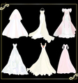 collection of wedding dresses 1 vector image vector image