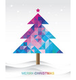 colorful christmas tree background vector image