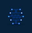 cyberbrain icon digital circuit board vector image vector image