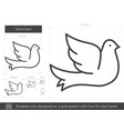 dove line icon vector image